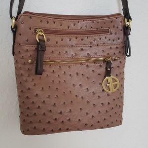 Gianni Berrnini brown handbag crossbody leather